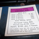 Parker Brothers Monopoly Deed Card Virginia Ave