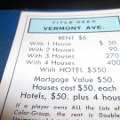 1974 Parker Brothers Monopoly Deed Card Vermont Ave