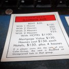 1974 Parker Brothers Monopoly Deed Card Illinois Ave.