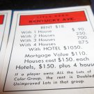 1974 Parker Brothers Monopoly Deed Card Kentucky Ave.