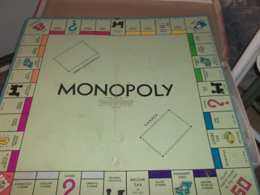 1974 Parker Brothers Monopoly Board