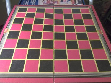 Checkers Game Board Vintage E.S. Lowe