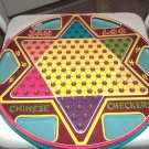 1953 San Loo Chinese Checkers Game Sliding Marble Storage Trays Tin Litho Board