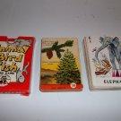 1947 Ed-U-Cards Trees, Animal/Bird Fish, Whitman Animal Rummy Card Games 3 decks