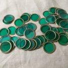 """Vintage Green """"MEGA"""" Chips for Bingo Bag of 50 used Green Chips"""
