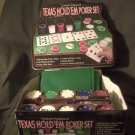 2004 Cardinal Texas Hold'em Poker Set in Tin with Chips & Cards