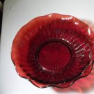 "Beautiful Red Glass Cereal Bowl, Dessert Bowl, 6.5"" Maybe Hocking Glass Co"