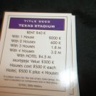 Monopoly Electronic Banking Game Part - 1 Deed Card Purple