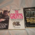 Three Paperbacks (WAR) The Grunts, Go Tell The Spartans, Platoon Leader