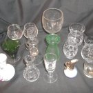 Lot of 14 Glass Items - Mostly Clear Glass & Small, Vases, Snifters, Glasses
