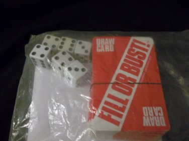 Fill or Bust - Cards and Dice Game - Almost Complete