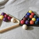"""Billiard Ball Set Complete With 2 Racks & 6 Extra Balls Approx. Size: 1"""""""