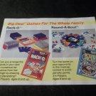 Vintage Big Deal Games from Milton Bradley Brochure