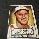 1952 TOPPS BASEBALL CARD, #143, LESTER MOSS, ST. LOUIS BROWNS