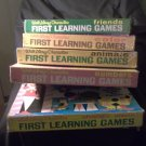 Lot of 5, Walt Disney Characters First Learning Games 1969 Animals Colors Number