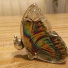 Avon Decanter, Mostly Full, Pretty Colorful Butterfly