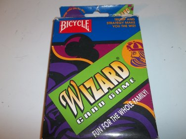 Bicycle Wizard Card Game  1986