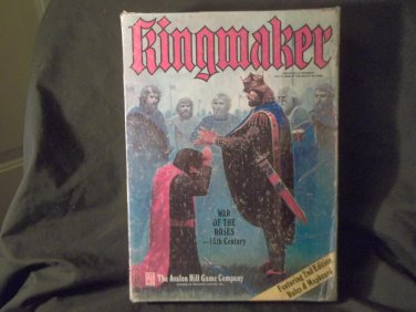 Kingmaker Avalon Hill Bookcase Game, 2nd Edition, Appears Complete 1976, Adult