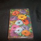 Vintage Playing Cards -  Brightly Colored Flowers Complete