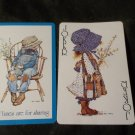 Holly Hobbie Swap Card, Good Times are for Sharing, (1) ONE Card ONLY, Joker