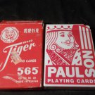 Two (2) Decks of Playing Cards, Casino Played, One Vintage, One Modern Hon-Dah