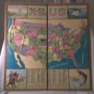 X-Plor US Game Board ONLY All-Fair Games Toys Vintage Maybe 1920s No Parts Board ONLY