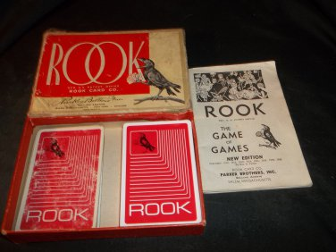 Vintage Rook Game Complete Includes rules Red Backs