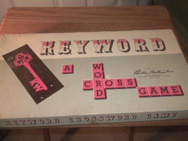 KeyWord  -  A Crossword Game - 1953 - Similar to Scrabble