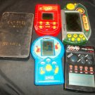 Lot of 5 Vintage Handheld Games  Card Games, Poker, Sorry, Uno, Roulette