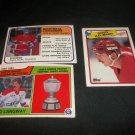 Lot of 3      1980 - 1989 Hockey Cards