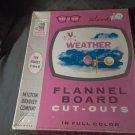 Milton Bradley VizUAid Weather Flannel Board Cut Outs 1960 Nice Teaching Aid