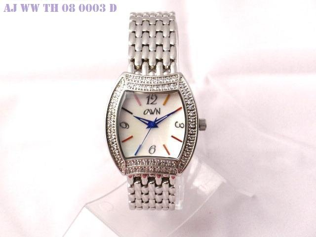 SWAROVSKI WATCH WITH SOLID BRACELET AND MOP COLOR INDEX DIAL