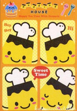 Kawaii Flan Purin Pudding House Sweet Time Memo Pad