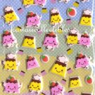 Kawaii Flan Purin Pudding House Puffy Sponge Sticker Sheet