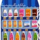 Kawaii Vending Machine Drinks Milk Sponge Sticker Sheet