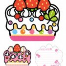 Kawaii Kamio Honey Mates! Japan Die-cut Cake Memo Pad NEW