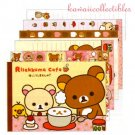 Kawaii San-X Japan Rilakkuma Korilakkuma Cafe Memo Pad Stationery w/ Stickers NEW