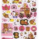 Kawaii San-X Japan Rilakkuma Korilakkuma Relax Bear 5th Anniversary Stickers Sticker Sheet NEW