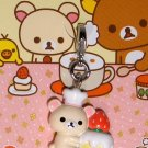 Kawaii San-X Japan Rilakkuma Korilakkuma Little Bear Cafe Mascot Charm Zipper Pull NIP