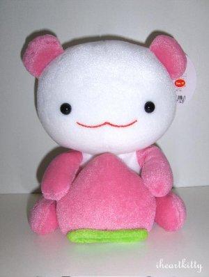 """RARE Kawaii San-X Japan Momo Peach Panda 7"""" Plush 2003 MWT"""