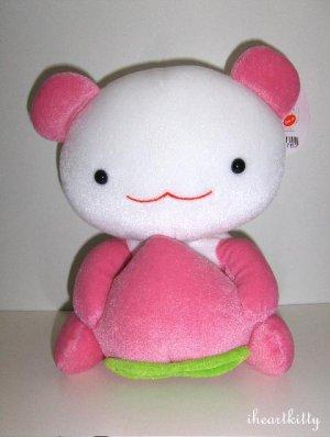 """RARE Kawaii San-X Japan Momo Peach Panda 9"""" Plush 2003 MWT"""