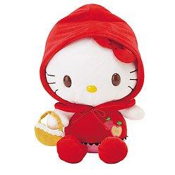 Kawaii Sanrio Hello Kitty Little Red Riding Hood MEDIUM Plush Doll NWT