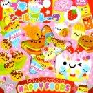 Kawaii Kamio Strawberry Scented Stickers Sticker Sack Happy Foods NIP