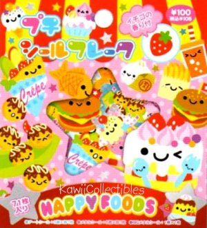 Kawaii Kamio Strawberry Scented Stickers Sticker Sack Happy Foods NIP