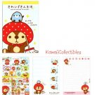 Kawaii San-X Japan Kireizukin Seikatsu Raccoon Memo Pad w/ Stickers NEW (A)