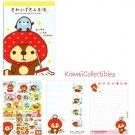 Kawaii San-X Japan Kireizukin Seikatsu Raccoon Memo Pad w/ Stickers NEW (A)