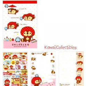 Kawaii San-X Japan Kireizukin Seikatsu Raccoon Memo Pad w/ Stickers NEW (B)