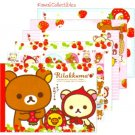 Kawaii San-x Japan Rilakkuma Strawberry / Little Red Riding Hood Memo Pad w/ Stickers NEW (A)
