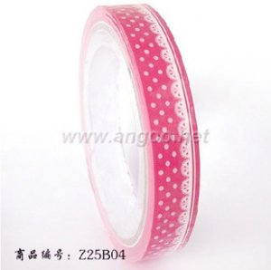 Kawaii Mind Wave Inc. Japan Medium Deco Tape Pink Lace NEW
