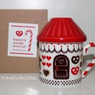 Kawaii Decole Gingerbread House Mug RED w/ Lid & Tea Strainer NIB